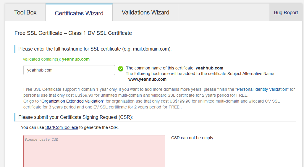 Get Ssl Free Certificate For Your Site 2016 Yeah Hub