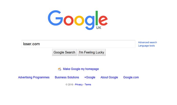 google loser