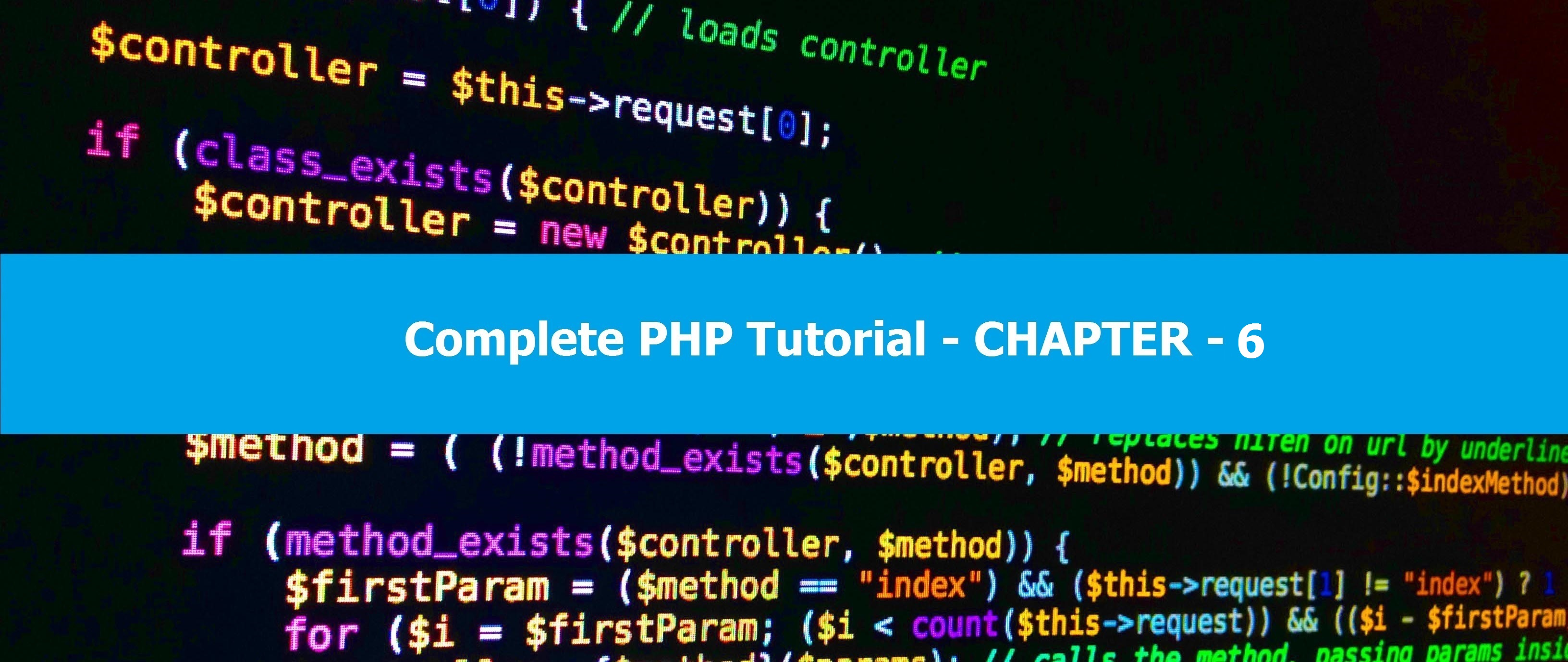 Complete PHP Tutorial - Chapter 8 - Yeah Hub