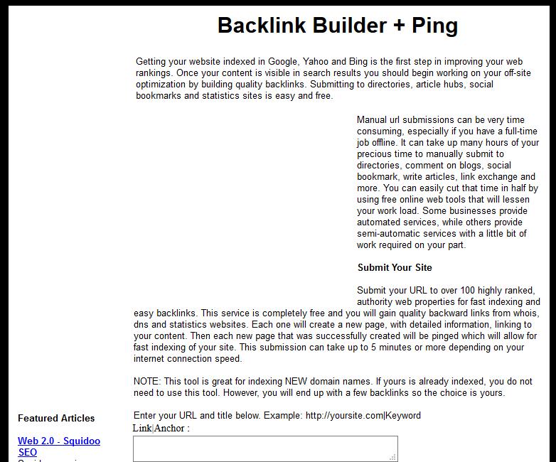 20 Best free backlinks provider sites - OnewhiteWeb