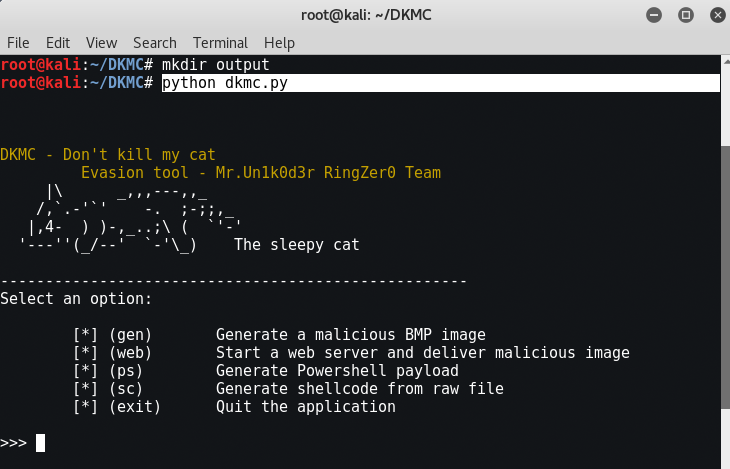 DKMC - Another Wonderful Malicious Payload Evasion Tool (Windows