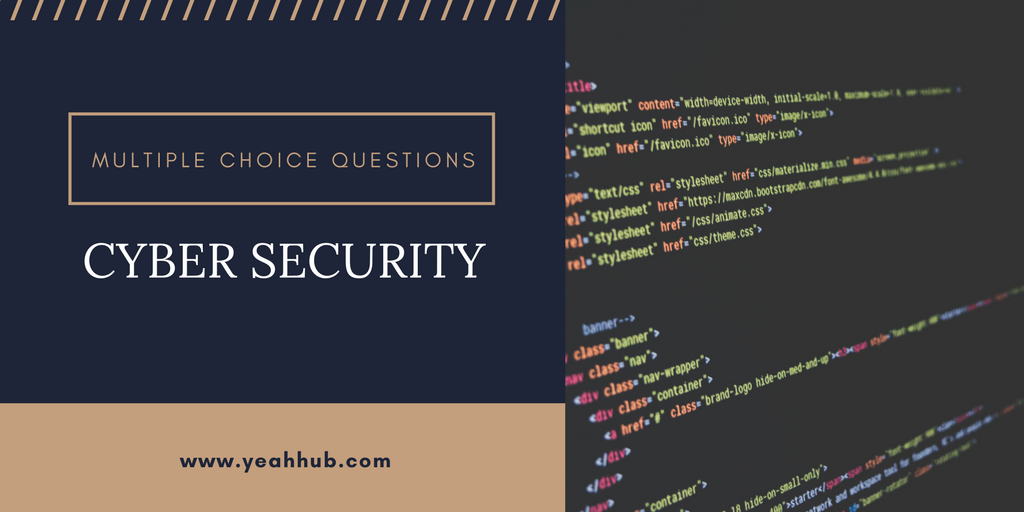 40 Cyber Security MCQ with Answers and Explanations - Yeah Hub
