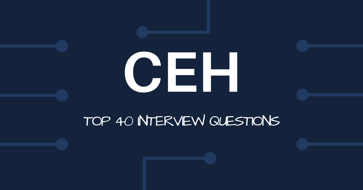 Top 40 Interview Questions Information Security