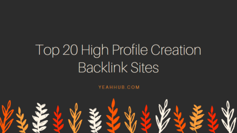 20 High Profile Backlink Sites