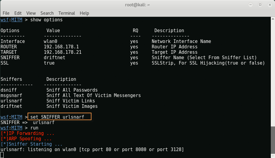 Man in the Middle Attack with Websploit Framework - Yeah Hub