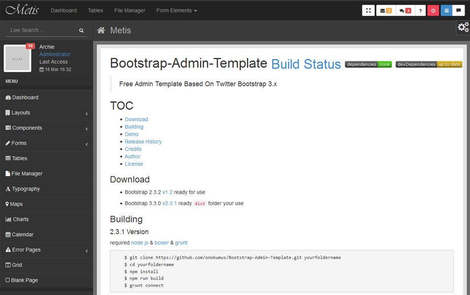 Bluradmin Angular Admin Panel Front End Framework