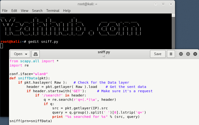 Live Packet Sniffing with Python [Search][Post Data] - Yeah Hub