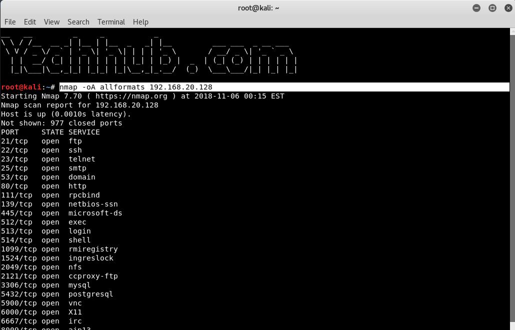 Nmap Commands