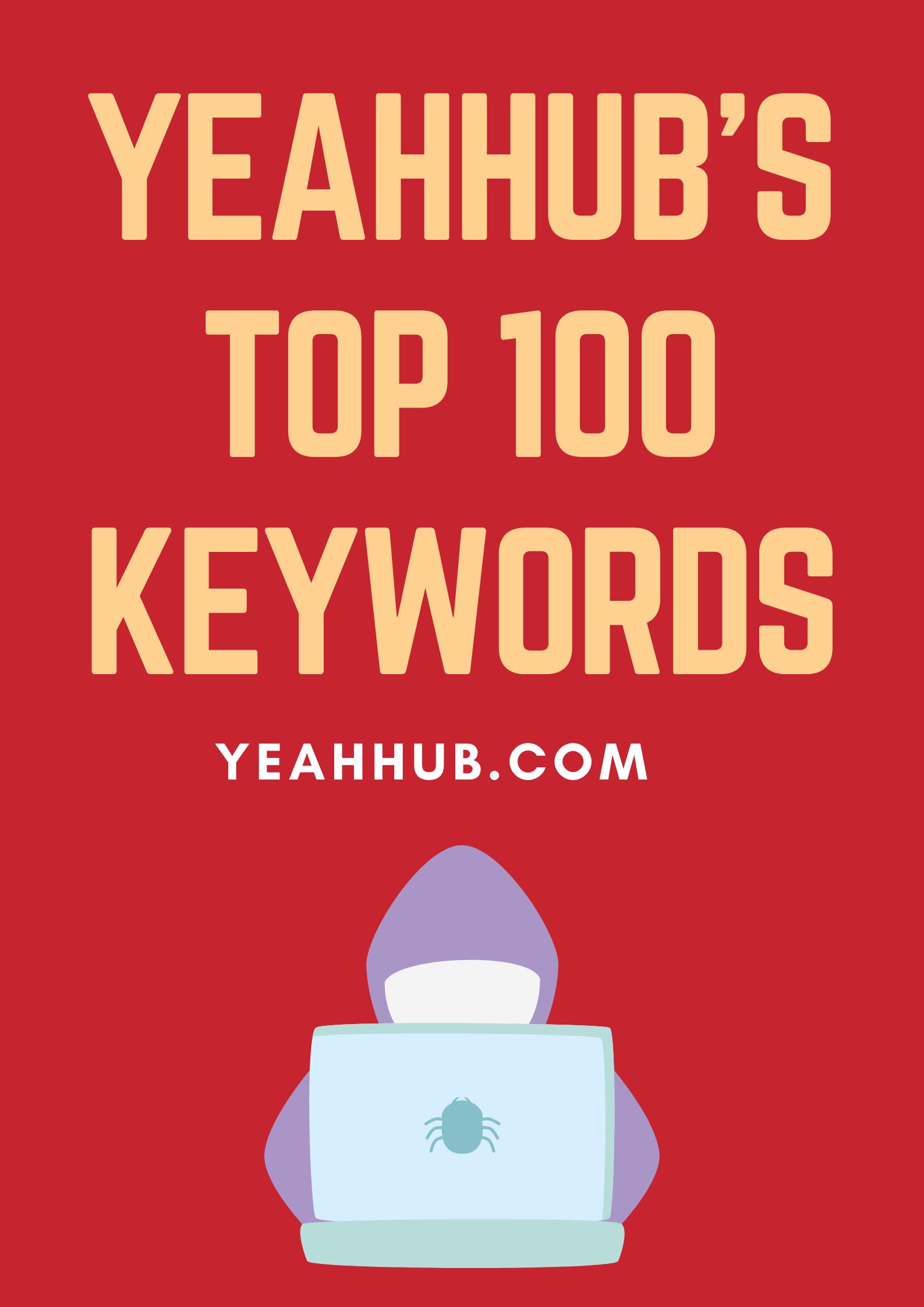 Yeahhub Top ranked Keywords Google